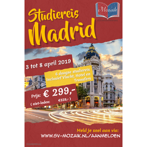 Studiereis SV Mozaik Madrid 2019 Spanje